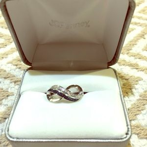 Infinity Real diamond ring